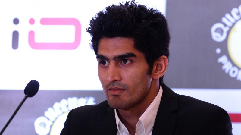 Another one of Vijender's wishes is a showdown with Canelo, a multiple-time world champion. Canelo would be taking on Britain's Rocky Fielding for the WBA super middleweight champion at the Madison Square Garden on December 15. (Photo: AFP)