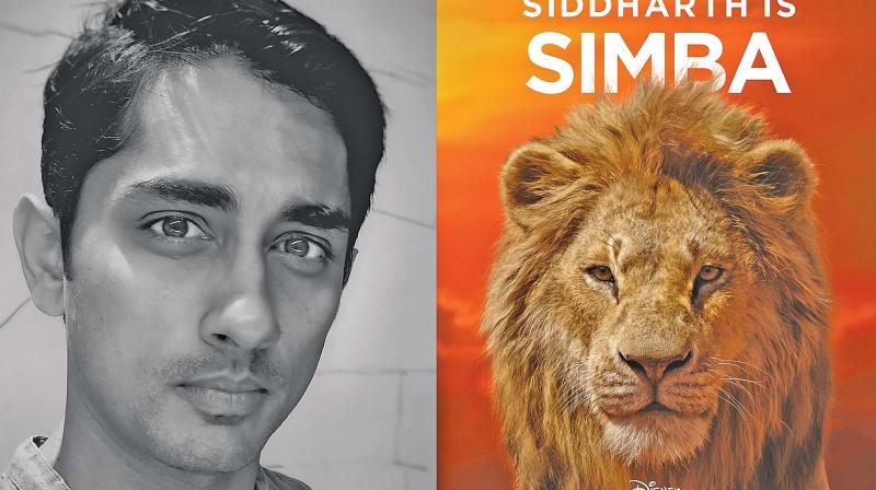 Siddharth as Simba (Tamil)