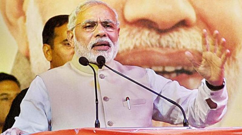 Prime Minister Narendra Modi said, 'What Atal ji did was in direct contrast to the Congress which has never cared for regional aspirations.' (Photo: File)