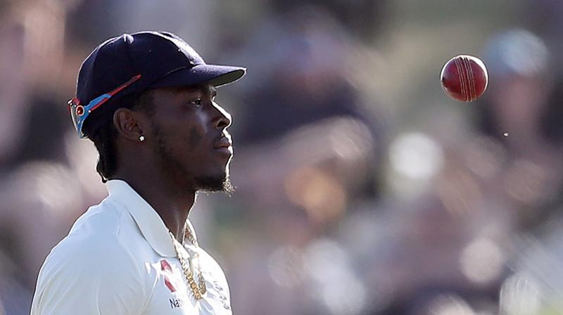 England fast bowler Jofra Archer has said the racial abuse directed at him by a fan at the end of the first test in New Zealand was a 'real shame' but that he has moved on from the incident. (Photo:AFP)