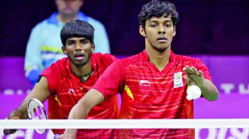 Satwiksairaj Rankireddy (left) and Chirag Shetty reached Thailand Open final.