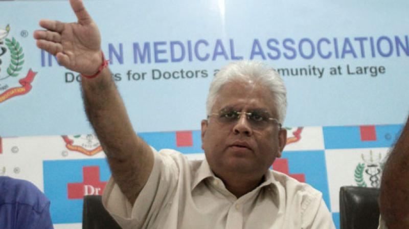 Dr Ranjan Sharma, president of the doctors' national body. (Photo: ANI)
