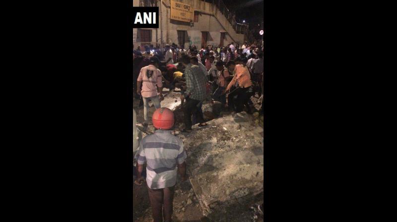 A foot over bridge near Chhatrapati Shivaji Maharaj Terminus (CSMT) railway station collapsed on Thursday evening. (Photo: File)