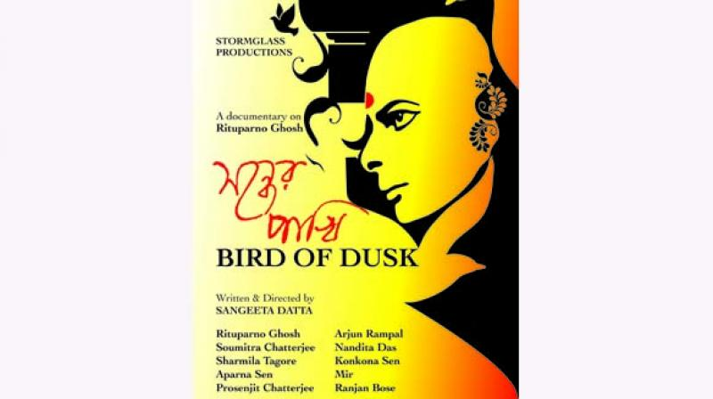 """Director Sangeeta Dutta, a close friend of """"Ritu"""" from university days, says that she started working on Bird of Dusk as soon as she finished editing a book on him, Rituparno Ghosh: Cinema, Gender and Art."""