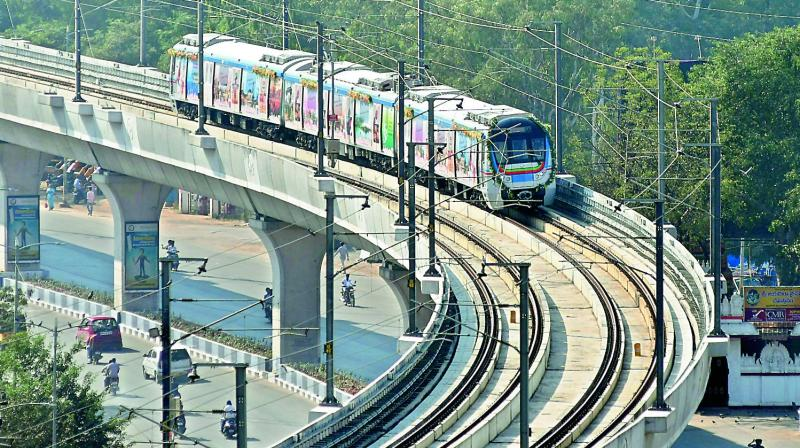 File picture of Metro train on the track.