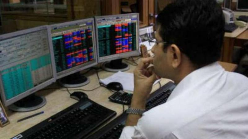 The broader NSE Nifty was also trading 7.85 points, or 0.07 per cent, down at 11,271.05.