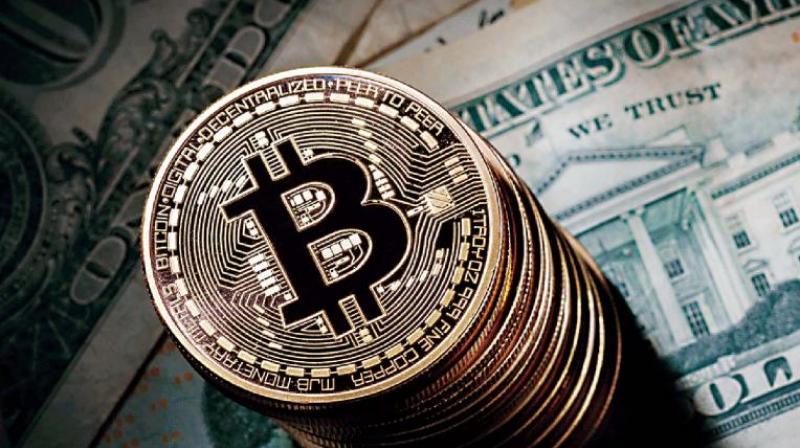 Bitcoin fell to as low as USD 6,178 at Bitstamp exchange, down 21.6 per cent from the previous close and last stood down 8.2 per cent at USD 7,236.