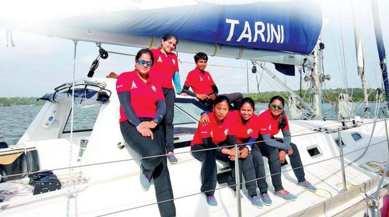 The six-member Navika Sagar Parikrama, during their 254-day expedition.