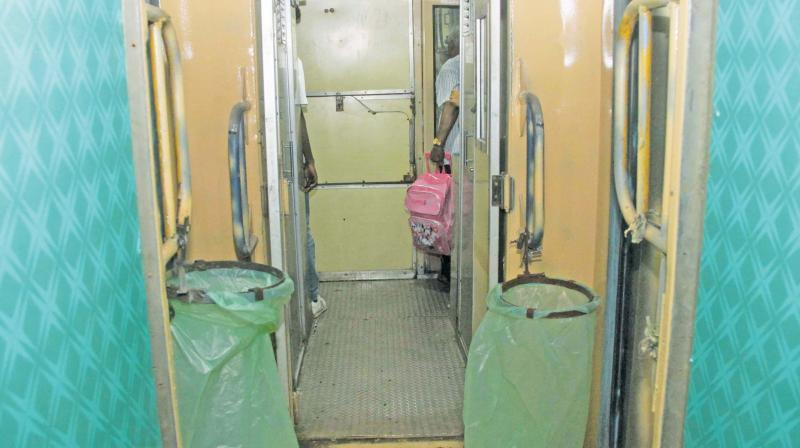 A view of train interiors