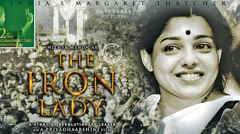 The Iron Lady, came out with a poster featuring Nithya Menen who essays Amma with an image makeover.