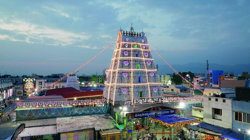 The famous shrine of Tiruchanoor