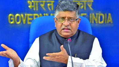 Communications Minister Ravi Shankar Prasad said as per data available for 2018, 5.54 lakh villages are covered with mobile services, while 43,088 villages are not covered. (Photo: File)