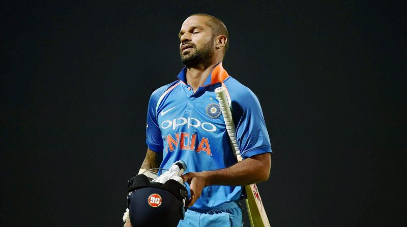 """It was in the first six overs that they took the game away from us. After the first six overs even they weren't hitting the ball that frequently – it wasn't like 10 an over against the spinners in the middle overs. That's because the wicket was a little slow,"" Shikhar Dhawan said. (Photo: PTI)"