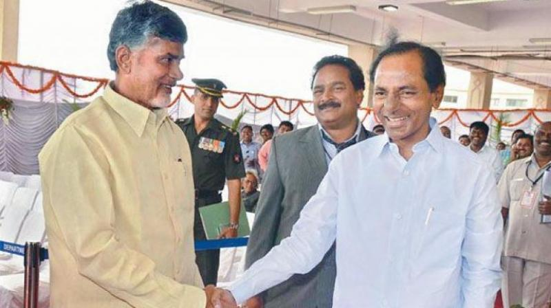 K Chandrasekhar Rao and Chandrababu Naidu