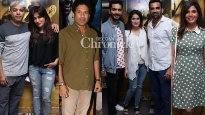 A screening of the film 'Soorma' was held in Mumbai on Wednesday where many celebrities were spotted. (Photos: Viral Bhayani)