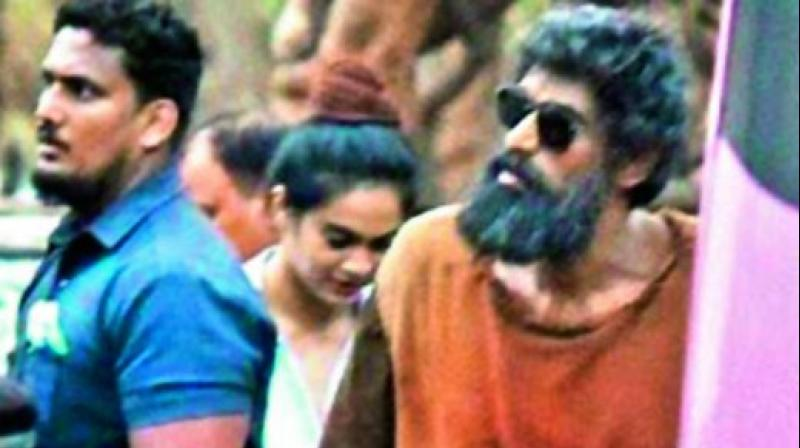 "A source in the know said, ""Rana will be seen in the role of an environmentalist in the outing. Most of it has been shot in forests, and the actor will be seen as an old man through a majority of the sequences."""