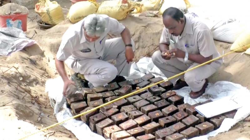 So far 58 rounds of TNT (Trinitrotoluene) explosives, 250 light machine gun (LMG) cartridges kept in 19 steel boxes, four boxes containing 100 rocket launchers besides bullets, 15 'granite explosives' , five 'ground rockets', eight rolls of fuse wire and one small dynamo motor have been recovered. (Photo: DC)