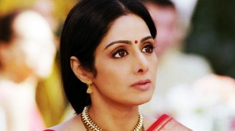 Sridevi in a still from a movie.