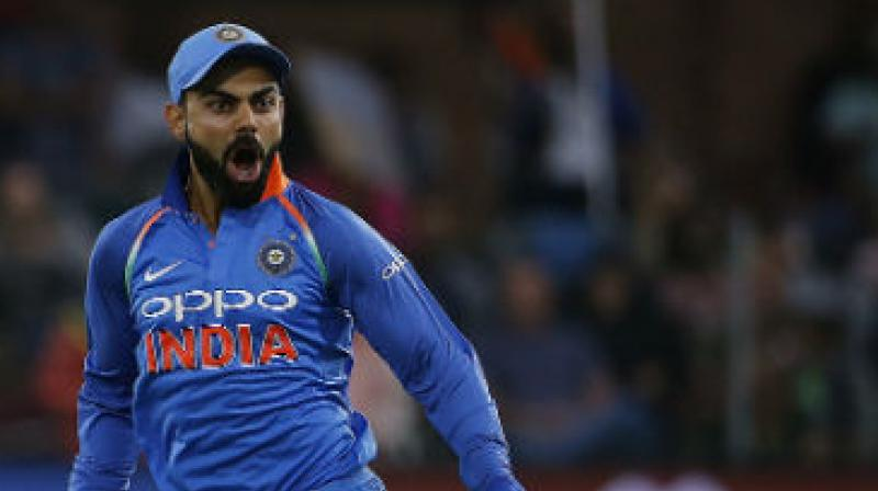 If Virat Kohli manages to breach the code of conduct once again before February 2020, then he will be handed a suspension point, which will be on his record. (Photo: AFP)