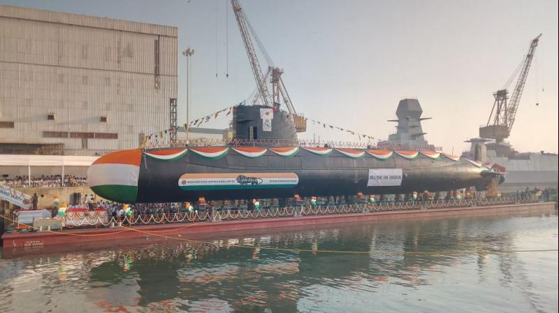 Hindi Current Affairs,Hindi Current Affairs 1th February 2018,Current Affairs 1th February 2018 Image result for INS Karanj is Third Scorpene Class Submarine Launched By Indian Navy