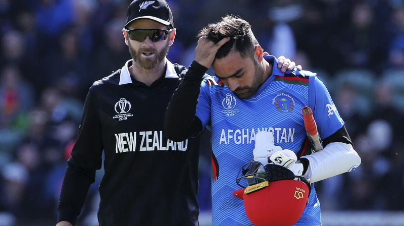 Rashid was off the field throughout the match as he failed two concussion tests. (Photo: AP)