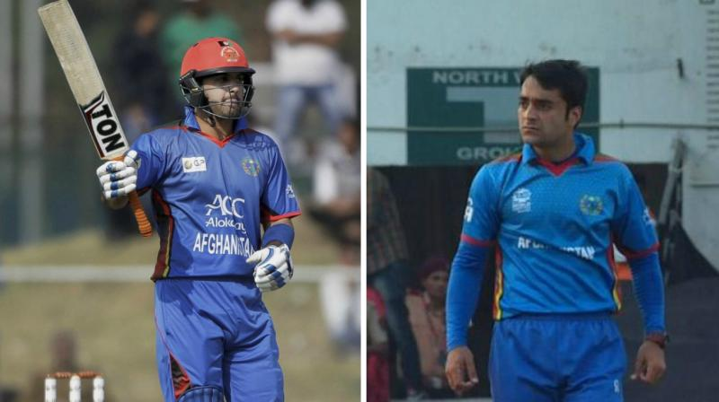Afghanistan cricketers Mohammad Nabi and Rashid Khan will make their IPL debut as they gear up to play for defending champions Sunrisers Hyderabad in IPL 10. (Photo: PTI / ICC)