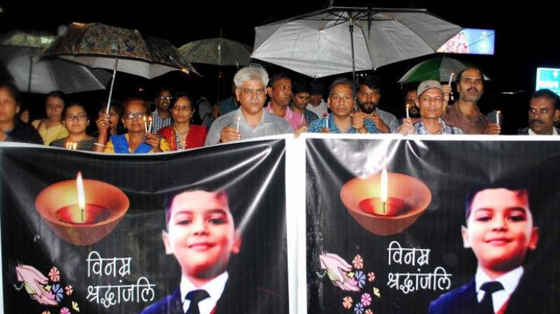 Pradyuman Thakur was found dead inside the toilet of the Ryan International School, Gurgaon, with his throat slit on September 8. (Photo: ANI)