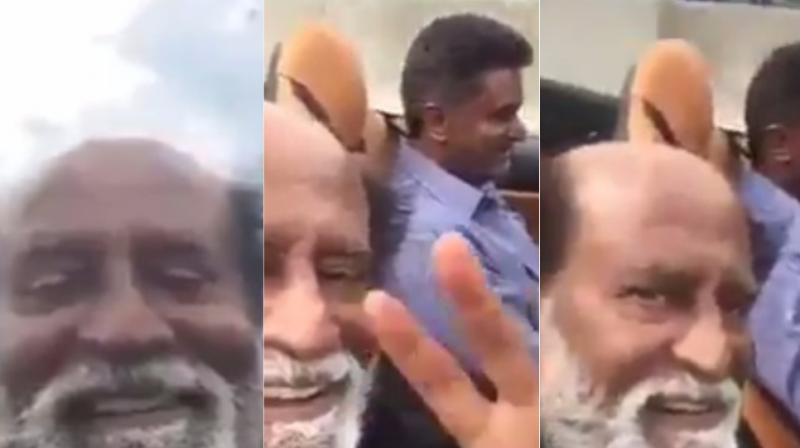 Screen grabs from the video made by the man himself- Rajinikanth. Recently, amid rumours of him joining Tamil Nadu politics, the Padma Bhushan awardee revealed that he is not completely against the idea.