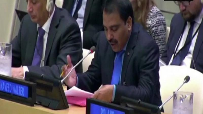 Naveed Walter, President of Human Rights Focus Pakistan, apprised the United Nations about the 'biased behaviour' of Chinese and Pakistani regimes against minorities in their respective countries.  (Photo: ANI)
