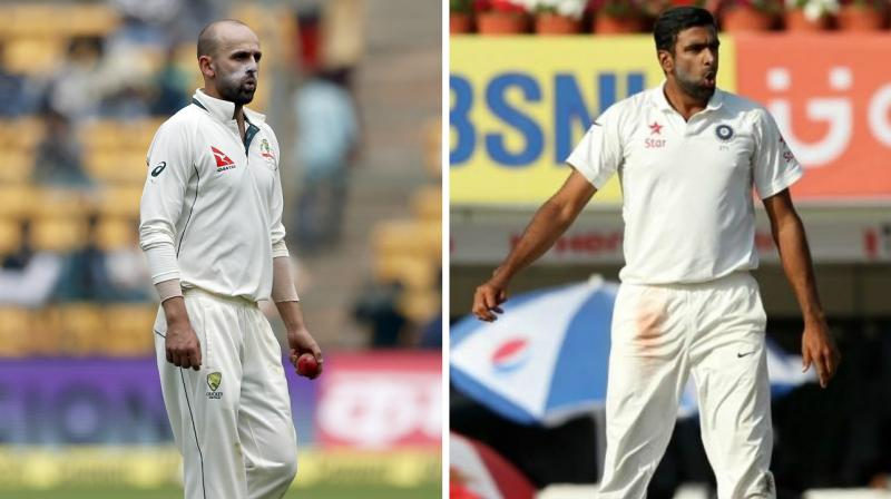 While R Ashwin scalped just two wickets, Nathan Lyon could only pick a wicket in the third India-Australia Test in Ranchi. (Photo: AP / BCCI)