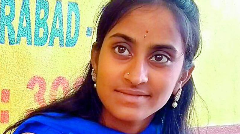 V Sandhya's parents had arranged her marriage when she was 16 years old but I was rescued by  Balala Hakkula Sangham  in 2016.