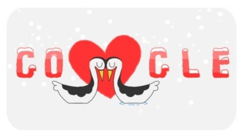Google's Valentine's Day doodle. (Photo: Google)