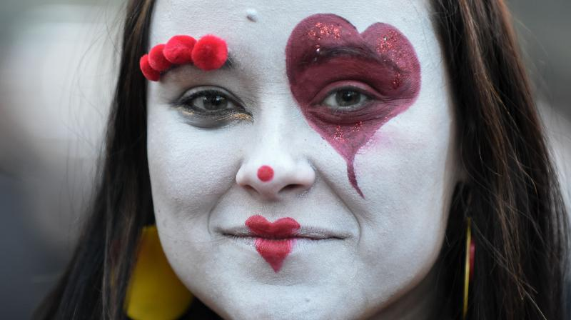 The 'Masopust' - or Carnival - in Prague's Zizkov quarter always takes place towards the end of winter. (Photo: AFP)