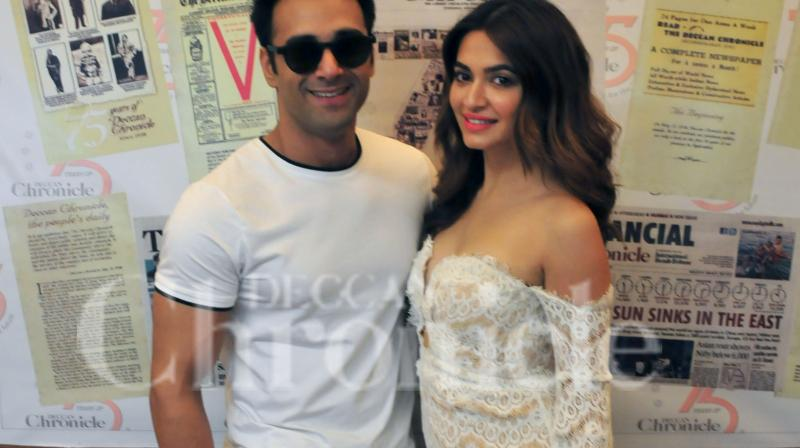 Pulkit Samrat and Kriti Kharbanda visit Deccan Chronicle office.