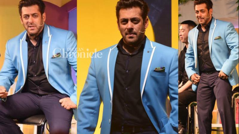 Salman Khan unveiled the fresh season of his popular reality show 'Bigg Boss' at an event in Mumbai on Tuesday. (Photo: Viral Bhayani)