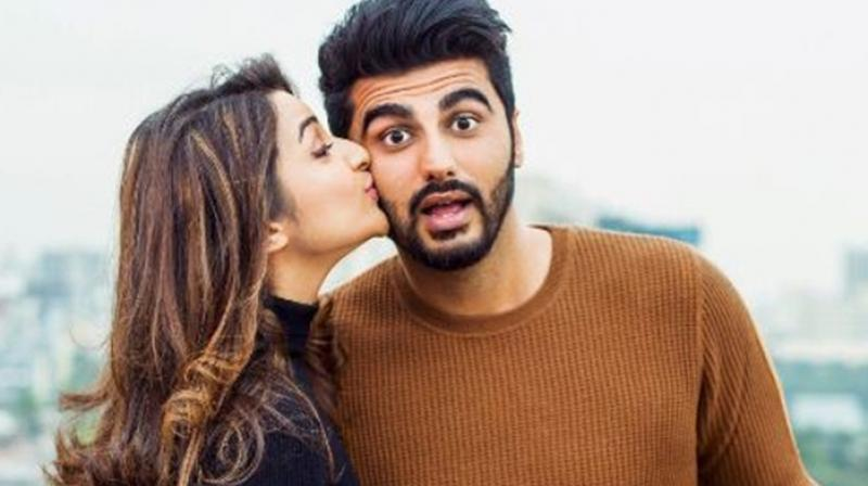 Parineeti Chopra and Arjun Kapoor's picture from their announcement of 'Sandeep Aur Pinky Faraar.'