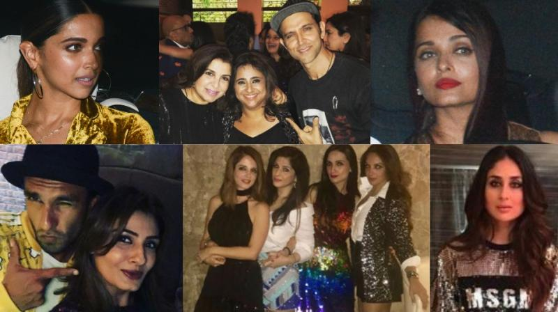 Some of the pictures from Shah Rukh Khan's bash for Kaajal Anand in Mumbai on Friday. (Photo: Viral Bhayani)
