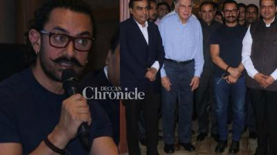 Aamir Khan was joined by some of the biggest names of the country at a press conference for a tournament related to his NGO Paani  Foundation in Mumbai on Friday. (Photo: Viral Bhayani)
