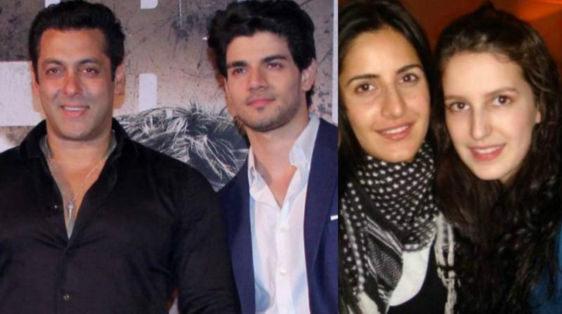 Salman Khan, Sooraj Pancholi, Katrina and Isabelle Kaif.