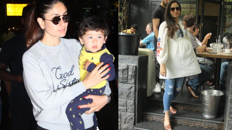It appeared to be a baby's day out (or almost) as Kareena Kapoor Khan came back in town with little Taimur and Mira Rajput flaunted her bump.