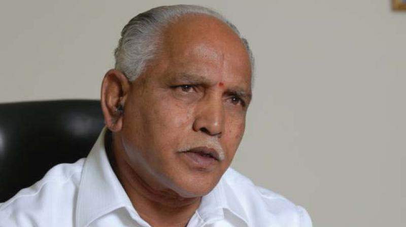 Yediyurappa said this after a reporter asked Karajol whether the government should provide good roads before taking huge fine from commuters. (Photo: File)