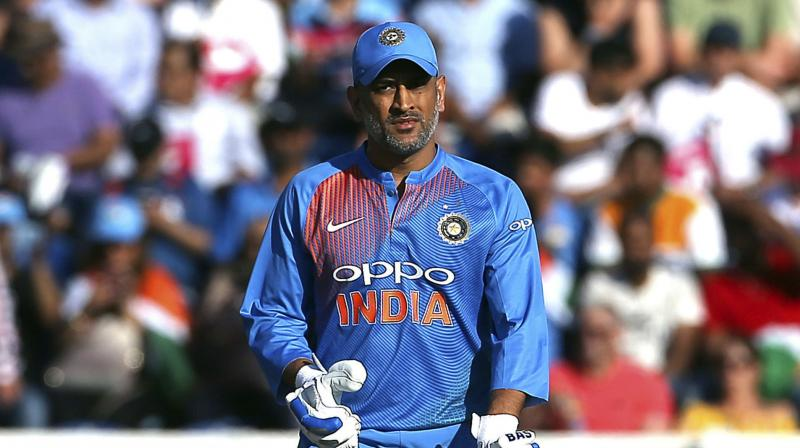 While the former Indian skipper stayed in the middle till the 47th over of the Indian chase, he could only score 37 runs off 59 balls, failing to up the ante, giving India a chance to pull off a win. (Photo: AP)