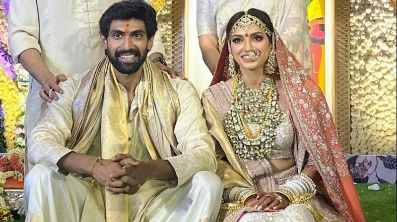 Actor Rana Daggubati and Miheeka Bajaj
