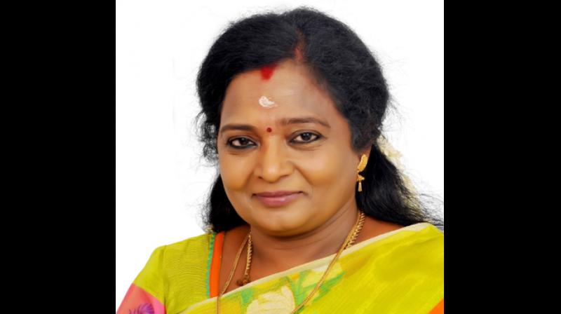 Earlier, the post was held by E S L Narasimhan, who subsequently demitted office. (Photo: Twitter | @TamilisaiOffice)