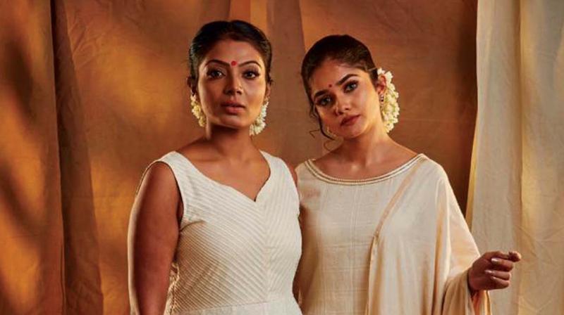 Models sporting Alka Hari's Aikyam Onam collection