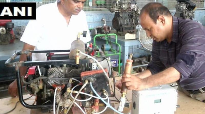 Sounthirajan Kumarasamy, the engineer from Coimbatore, said, the engine that he has designed is unique and it uses hydrogen as fuel source and releases oxygen. (Photo: ANI twitter)