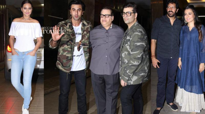 Ramesh Taurani of Tips' production house held a bash late Tuesday which was attended by several stars from the film industry. (Photo: Viral Bhayani)