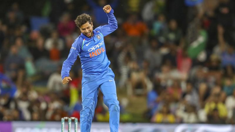 Kuldeep bagged a five-for in the rain-affected Sydney Test and most of the Australian batsmen failed to read him. (Photo: AP)