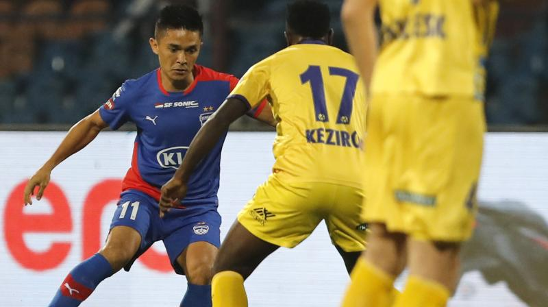 Slavisa Stojanovic scored a 16th-minute penalty before a fabulous strike from Courage Pekuson handed the visitors a two-goal lead at the break. (Photo: AP)