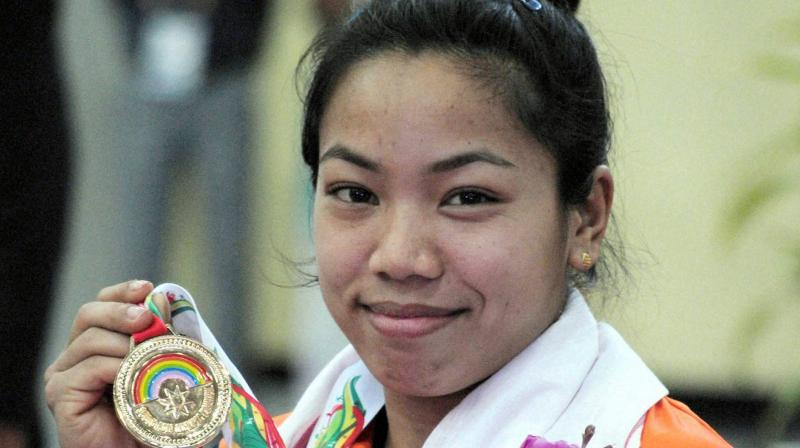 Chanu won the 48kg category gold with a effort of 192 kg in the silver level Olympic qualifying event, the points from which will come in handy when the final rankings for Tokyo 2020 cut are done. (Photo: PTI)